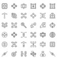 blockchain concept icons set in outline vector image vector image