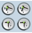 Blow hairdryer icons set Professional hair-drier vector image vector image
