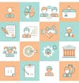Business management icons flat line vector image vector image