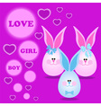Card with bunny for invitations greeting vector image vector image