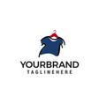 clothes logo design concept template vector image