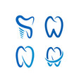 collection of tooth logo icon template vector image