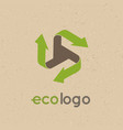 concept logo recycle products the use vector image vector image