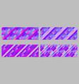 diagonal stripe pattern banner template set vector image vector image