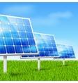 eco energy solar panels vector image vector image
