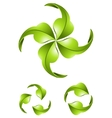 Eco green arrows vector image
