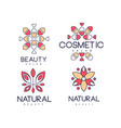 emblems for beauty salon in linear style vector image vector image