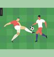 european football soccer player vector image vector image