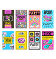 fashion patch badges banner set vector image