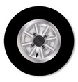 fast mini car wheel vector image vector image