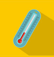 fever thermometer icon flat style vector image
