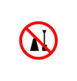 forbidden nail polish icon on white background vector image