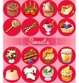 Great set of sweets and pastries vector image vector image