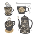 Hand lettering design for coffee shop restaurants vector image vector image