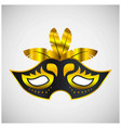happy brazilian carnival day black and golden vector image