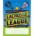 Lacrosse League Banner vector image