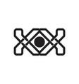 letter kk lines art design logo vector image vector image