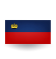 Liechtenstein Flag vector image