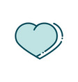 like love heart social media line and fill vector image vector image
