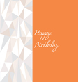 Low poly birthday card in orange vector image vector image