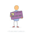 Man with credit card vector image