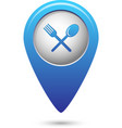 Map pointer with fork and spoon icon vector image