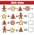 math educational game for children mathematical vector image vector image