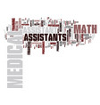 math for medical assistants text background word vector image vector image