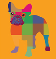 Nice color bulldog artprint vector image