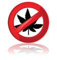 No cannabis vector image vector image