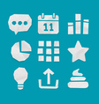 Paper Cut Icons for Web and Mobile Applications vector image vector image