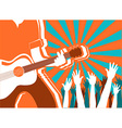 rock musician concert background poster vector image vector image