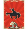 rodeo cowboy vector image