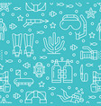 scuba diving snorkeling seamless pattern water vector image vector image