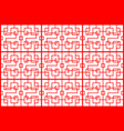 seamless red chinese patter backdrop on white vector image vector image