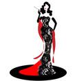 shop logo fashion woman model silhouette diva vector image