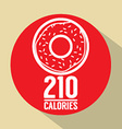 Single Donut 210 Calories Symbol vector image vector image