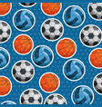 sport balls pattern background vector image vector image
