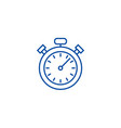 stopwatchtimer line icon concept stopwatchtimer vector image vector image