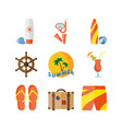 summer holidays beach vacation vector image