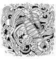 summer sports cartoon doodle funny design vector image