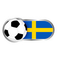 sweden soccer icon vector image vector image