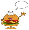 Talking Hamburger Cartoon vector image vector image