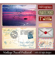 Travel Vintage Postcard Design with antique look