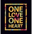 Tropical print love slogan vector image