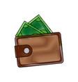 wallet safe money dollar banknote concept vector image