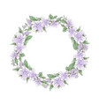 watercolor tender wreath lilac flowers vector image