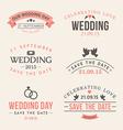 wedding set label badges stamp and design vector image