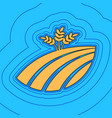 wheat field sign sand color icon with vector image vector image
