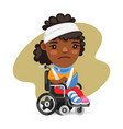 wheelchair user african american woman vector image vector image